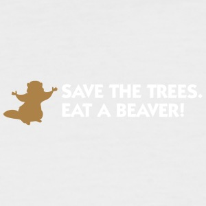 Save The Trees. Eat A Beaver. - Men's Baseball T-Shirt
