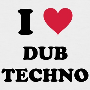 I LOVE DUB TECHNO - Men's Baseball T-Shirt