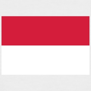 Nationalflagge von Indonesien - Männer Baseball-T-Shirt