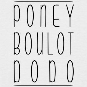 Poney Boulot Dodo - T-shirt baseball manches courtes Homme