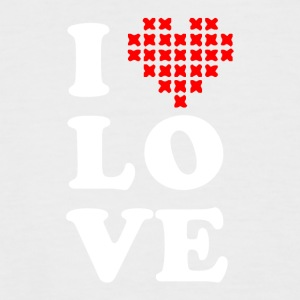 I love cross stitch - Men's Baseball T-Shirt