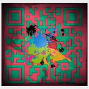QR code - Men's Baseball T-Shirt