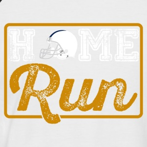 Home Run - Männer Baseball-T-Shirt
