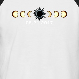 Total Eclipse solaire 21 août 2017 T-shirt - T-shirt baseball manches courtes Homme