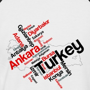 Turkey cities - Men's Baseball T-Shirt