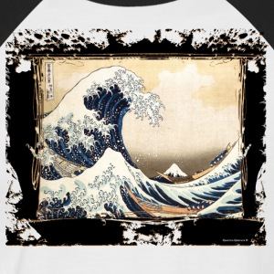 The wave hokusai reviewed by the DgedeNice - Men's Baseball T-Shirt