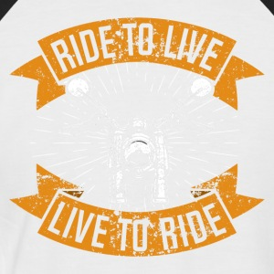 Live to Ride - T-shirt baseball manches courtes Homme