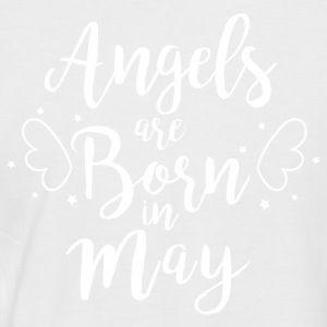 Angels are born in May - Men's Baseball T-Shirt
