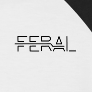 Black FERAL - Men's Baseball T-Shirt