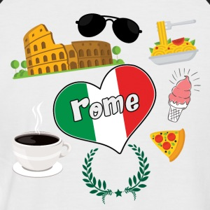 I love Rome 2 - Men's Baseball T-Shirt