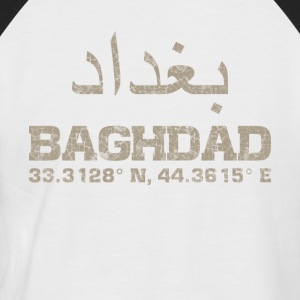Baghdad iraq, coordinates T-Shirt arabic - Men's Baseball T-Shirt