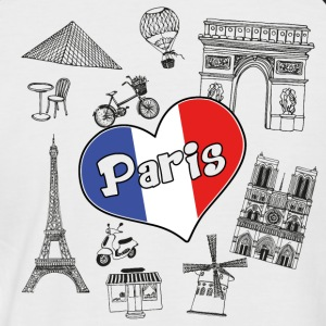 I love paris 2 - T-shirt baseball manches courtes Homme