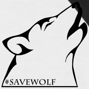 #SaveWolf - Kortermet baseball skjorte for menn