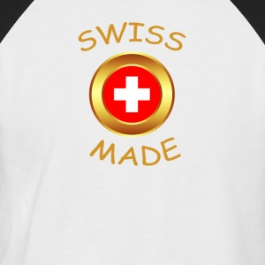 """SWISS MADE"" - T-shirt baseball manches courtes Homme"