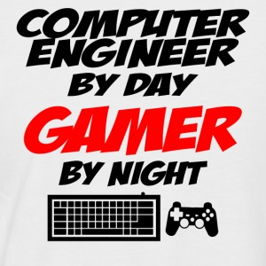 Computer engineer Gamer - Men's Baseball T-Shirt