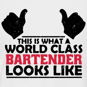 World class Barkeeper..Weltklasse Ba. cool sayings - Men's Baseball T-Shirt