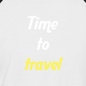 Time to travel - T-shirt baseball manches courtes Homme