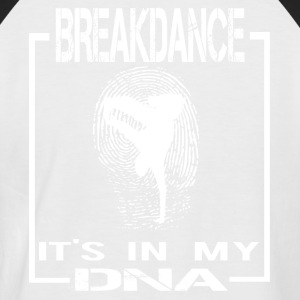 BREAKDANCE DNA ENGLISH - Männer Baseball-T-Shirt