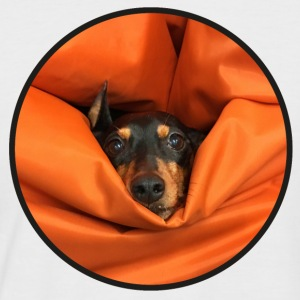 The pinscher, eaten by the seat-bag - Men's Baseball T-Shirt