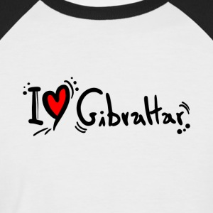 I Love Gibraltar - Men's Baseball T-Shirt