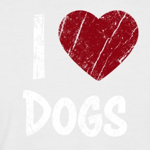 I Love Dogs used Look - Men's Baseball T-Shirt