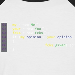 0 Fcks Were Given - Men's Baseball T-Shirt