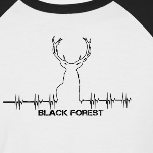 Black Forest Heartbeat black - Männer Baseball-T-Shirt