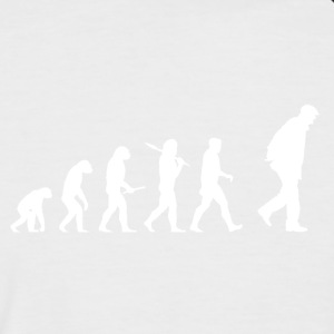 Evolution Grandpa! - Men's Baseball T-Shirt