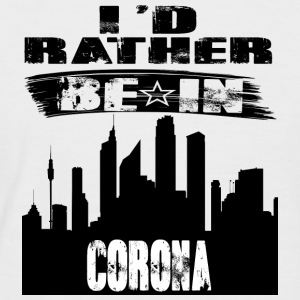 Gift Id rather be in Corona - Men's Baseball T-Shirt