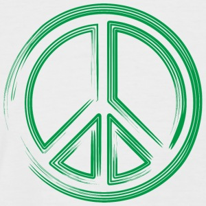 Peace green - Men's Baseball T-Shirt