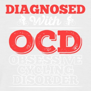 Diagnosed With OCD - Obsessive Cycling Disorder - Men's Baseball T-Shirt