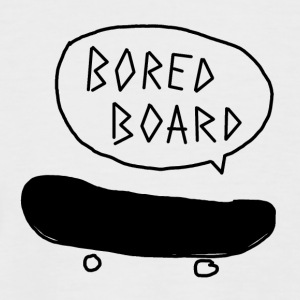 Bored Board Skateboard - Kortermet baseball skjorte for menn