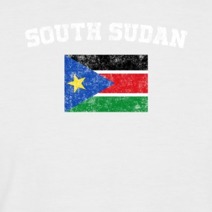 South Sudan Flag Shirt - Vintage South Sudan T-Shi - Men's Baseball T-Shirt