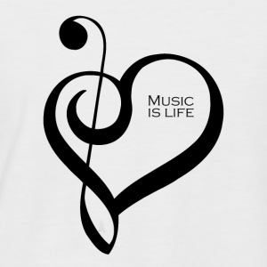 Music is life ! - T-shirt baseball manches courtes Homme