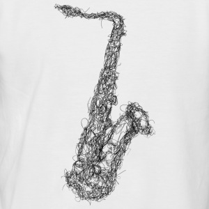 Saxophone Scribble - Men's Baseball T-Shirt