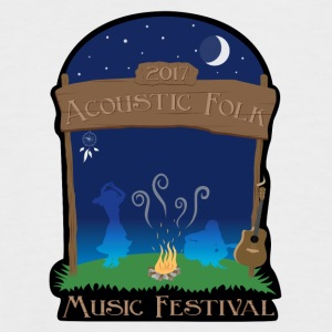 Acoustic Folk Music Festival - T-shirt baseball manches courtes Homme