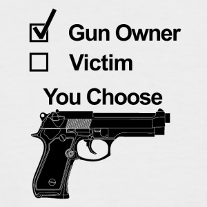 gun owner victim you choose - Männer Baseball-T-Shirt
