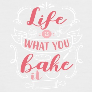 Life is what you bake - Men's Baseball T-Shirt