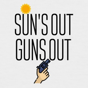 Sun is out Guns comes out - Men's Baseball T-Shirt