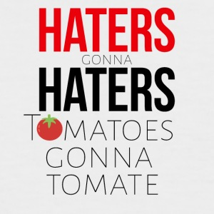 Haters gonna have tomatoes and tomatoes - Men's Baseball T-Shirt