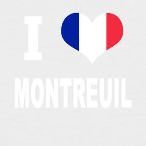 J'aime MONTREUIL - T-shirt baseball manches courtes Homme