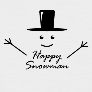 Happy snowman cheerful snowman winter snow - Men's Baseball T-Shirt