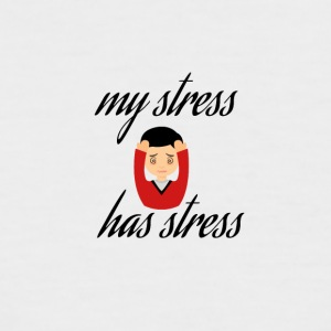 My stress has stress - Men's Baseball T-Shirt