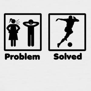 problem solved Frauenfussball soccer woman footbal - Männer Baseball-T-Shirt