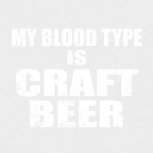 By blood type is craft beer - Men's Baseball T-Shirt