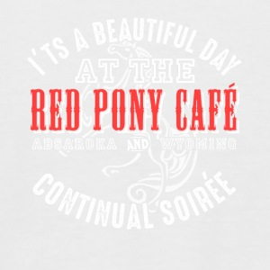 Red pony cafe funny sayings - Men's Baseball T-Shirt
