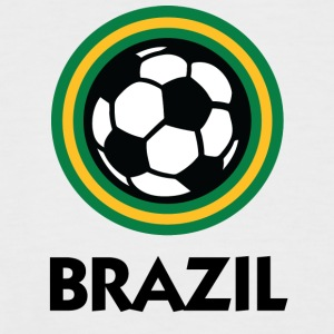 Brazil Football Emblem - Men's Baseball T-Shirt