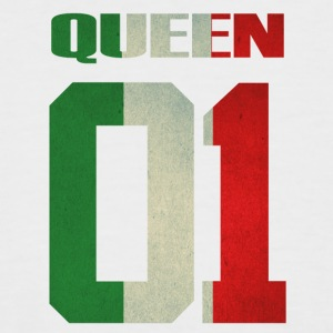 Queen 01 italia italy queen king ra regina familia - Men's Baseball T-Shirt