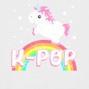 Cool ironisk K-Pop Music Unicorn - Kortermet baseball skjorte for menn