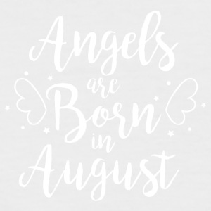 Angels are born in August - Männer Baseball-T-Shirt